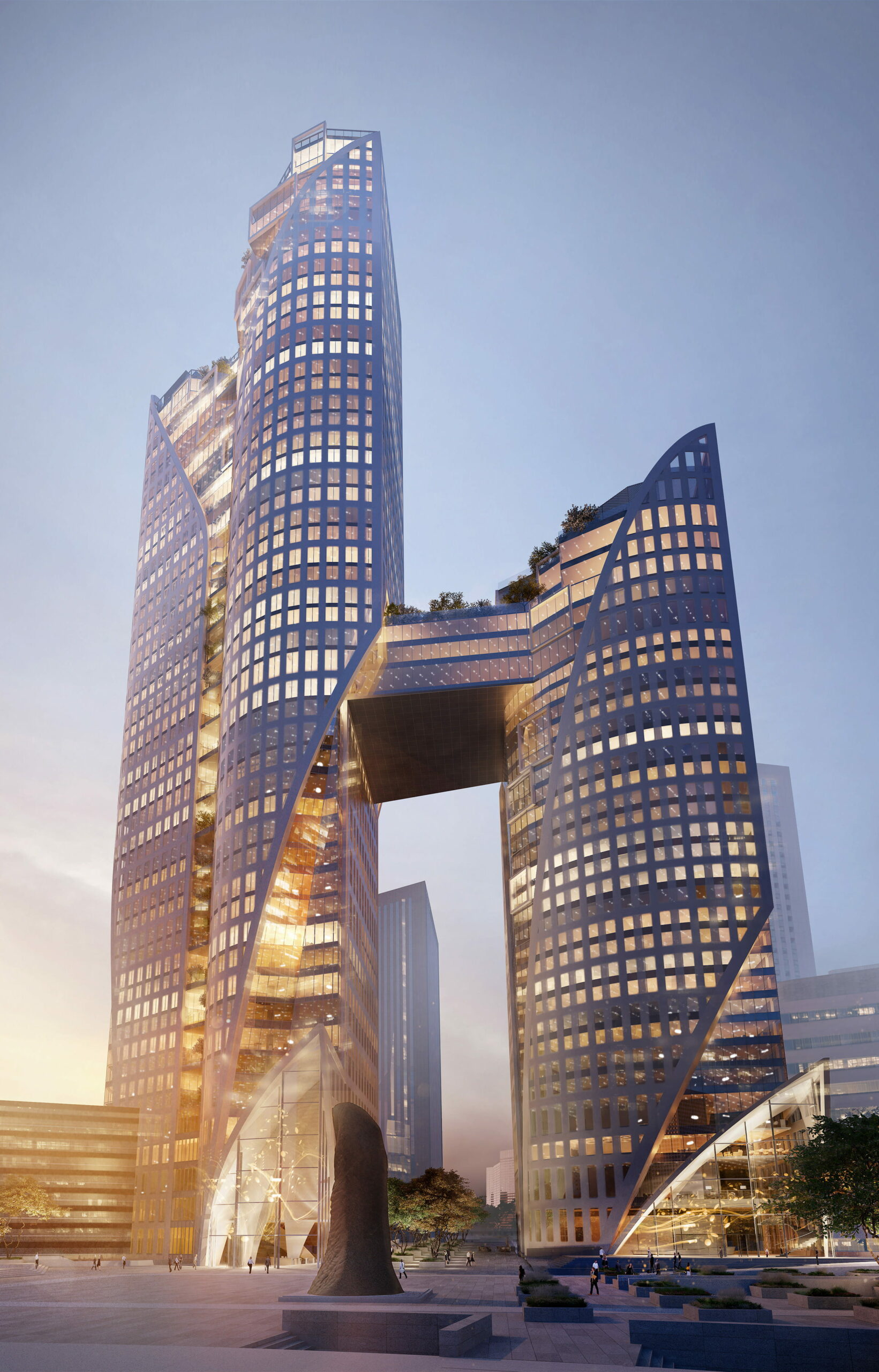 Homepage - sisters towers 2portzamparc view cnit - Catalina Plaino Architecture